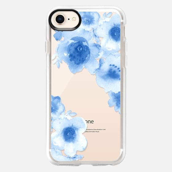 Love blue flowers - Snap Case