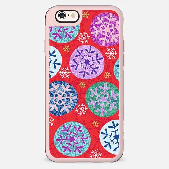 Floral winter in red - New Standard Case