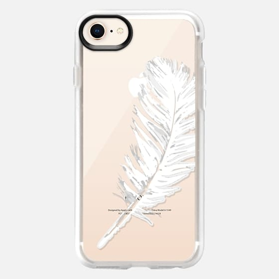 lovely white feather - Snap Case