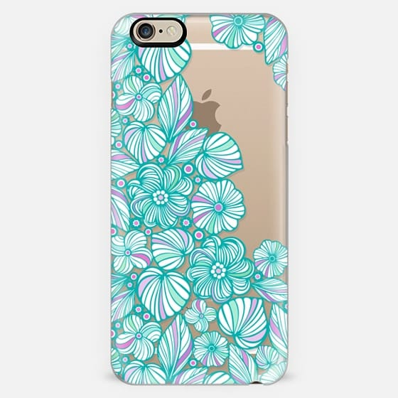 Turquoise flowers -