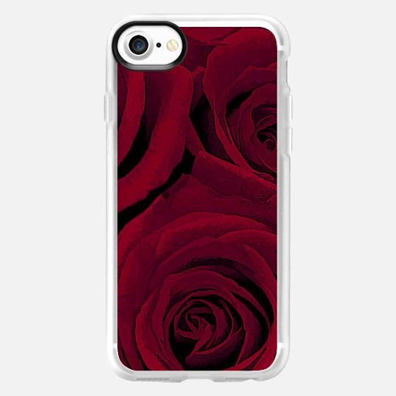 Maroon Roses - Wallet Case
