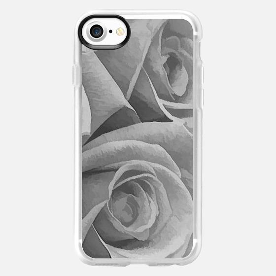 Gray Roses - Wallet Case