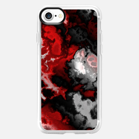 black gray white and red abstract - Wallet Case