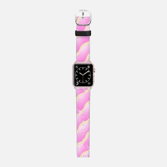GEOMETRIC VIBES: LOVE - Saffiano Leather Watch Band