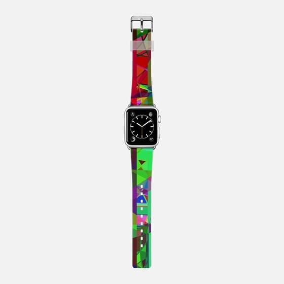 Colorful geometric - Saffiano Leather Watch Band
