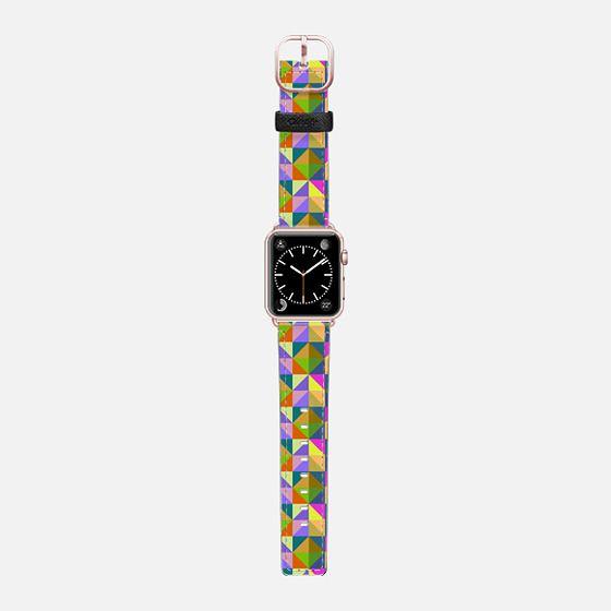 Geometric 3n - Saffiano Leather Watch Band