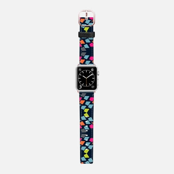 Geometric 3bn - Saffiano Leather Watch Band
