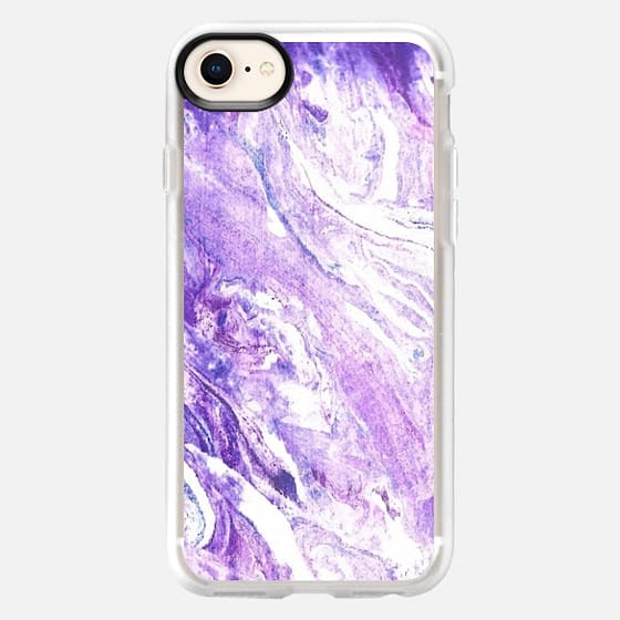 Watercolor marble background case - Snap Case