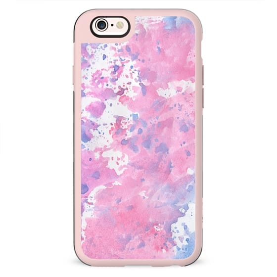 Pink and blue watercolour case