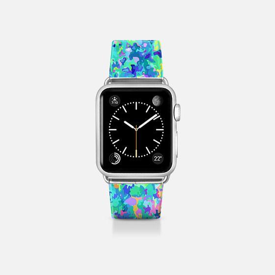 Blue watercolor watch