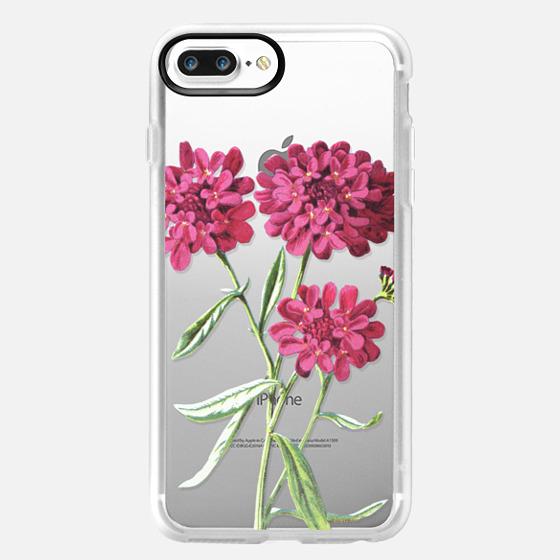 iPhone 7 Plus Hülle - Magenta Floral