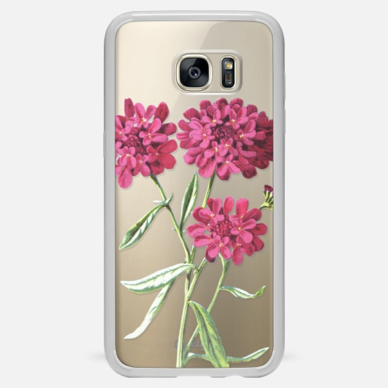 Galaxy S7 Edge Case - Magenta Floral