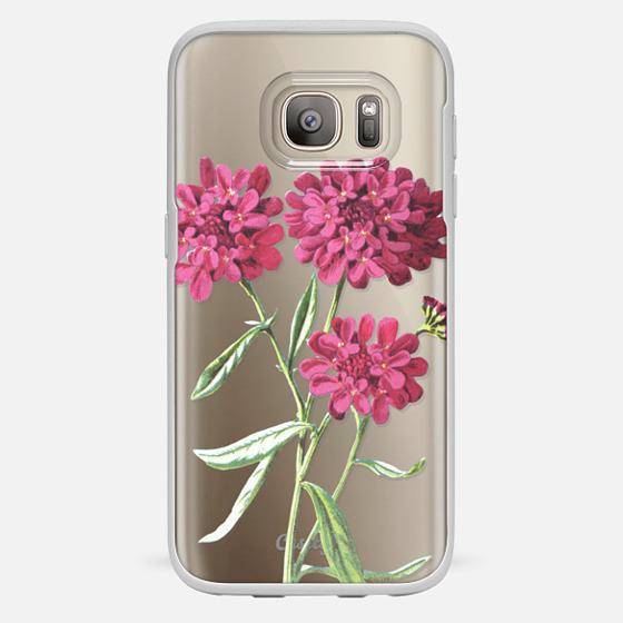 Galaxy S7 Hülle - Magenta Floral