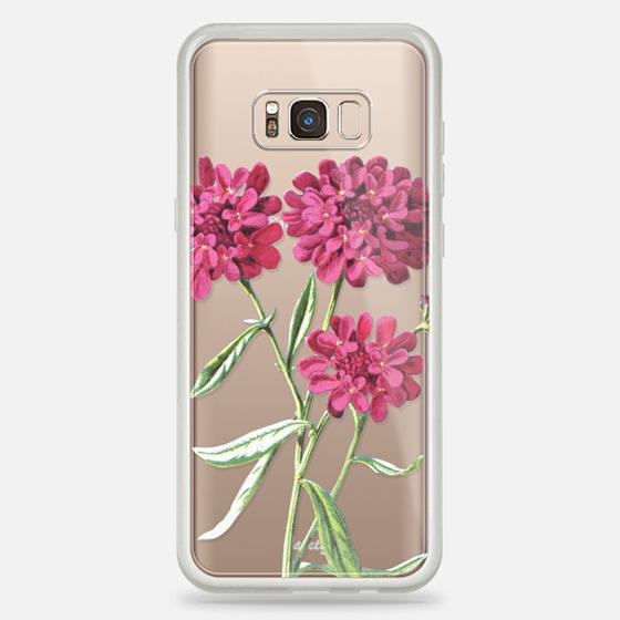 Galaxy S8+ Hülle - Magenta Floral