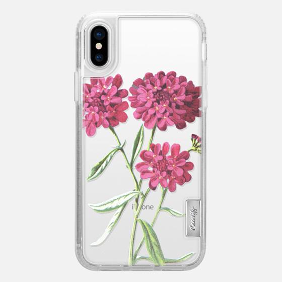 iPhone X 保護殼 - Magenta Floral