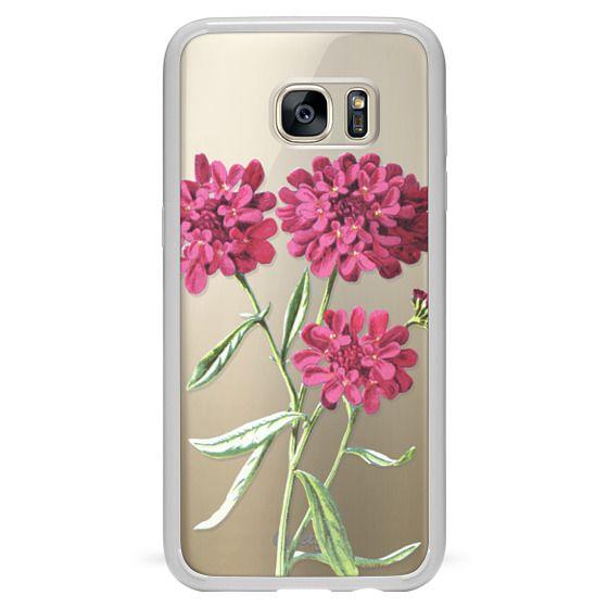 Galaxy S7 Edge 케이스 - Magenta Floral