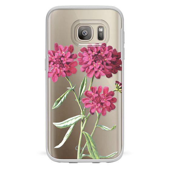 Galaxy S7 Funda - Magenta Floral
