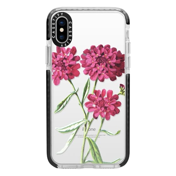iPhone X Cases - Magenta Floral