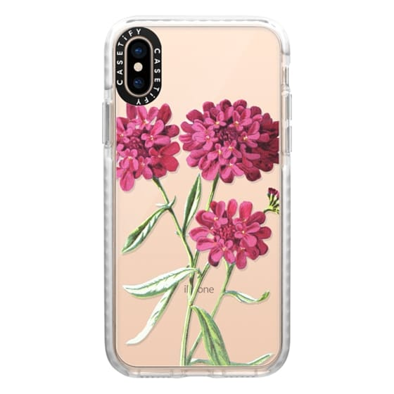 iPhone XS Cases - Magenta Floral