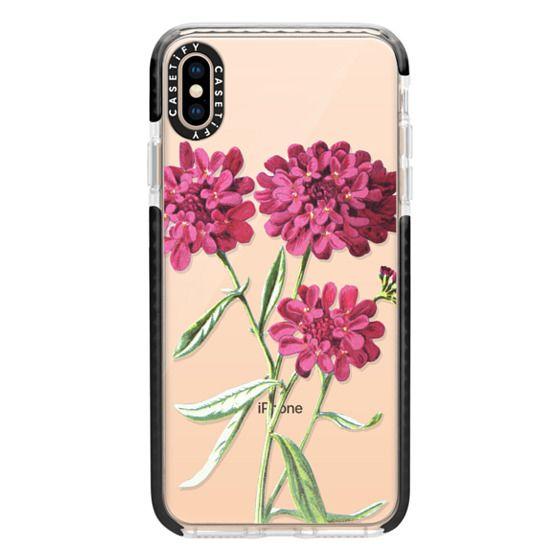 iPhone XS Max Cases - Magenta Floral
