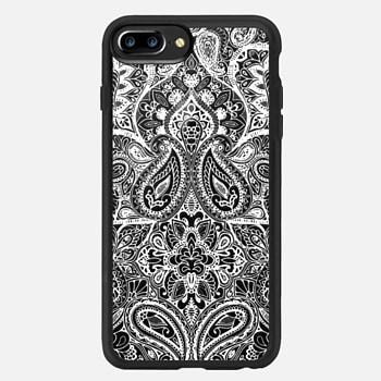 iPhone 7 Plus Case Paisley White