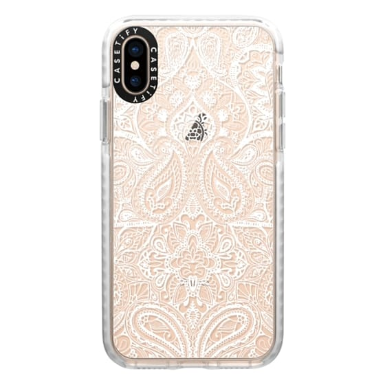 iPhone XS Cases - Paisley White