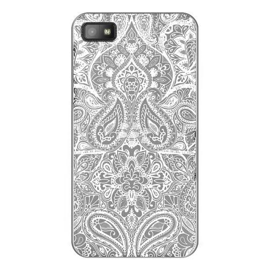 Blackberry Z10 Cases - Paisley White