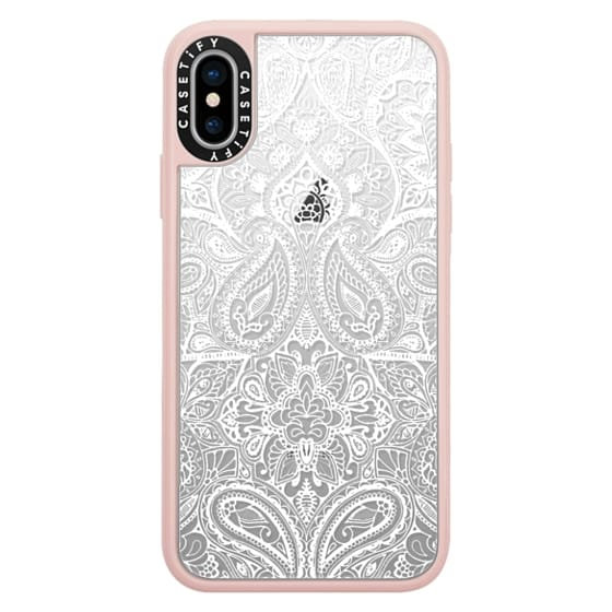 iPhone X Cases - Paisley White