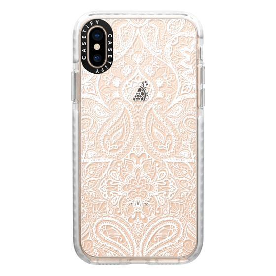 iPhone XS Cases - Paisley White