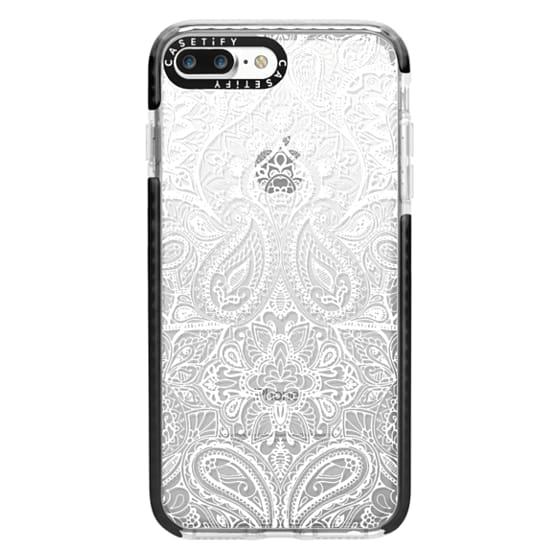 iPhone 7 Plus Cases - Paisley White