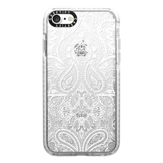 iPhone 7 Cases - Paisley White