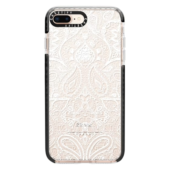iPhone 8 Plus Cases - Paisley White