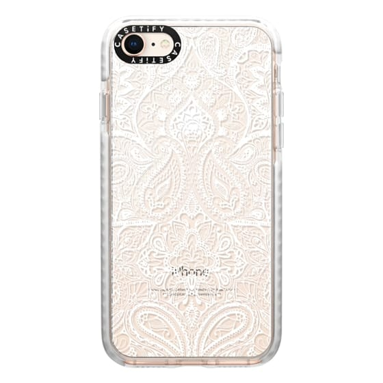 iPhone 8 Cases - Paisley White