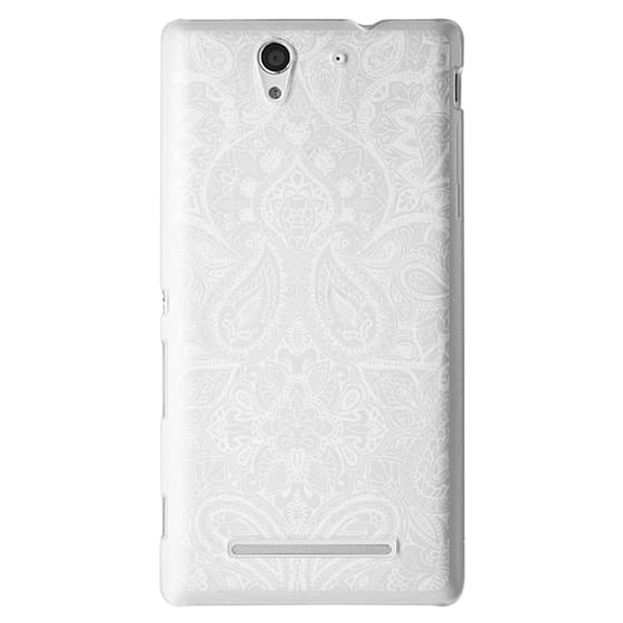 Sony C3 Cases - Paisley White