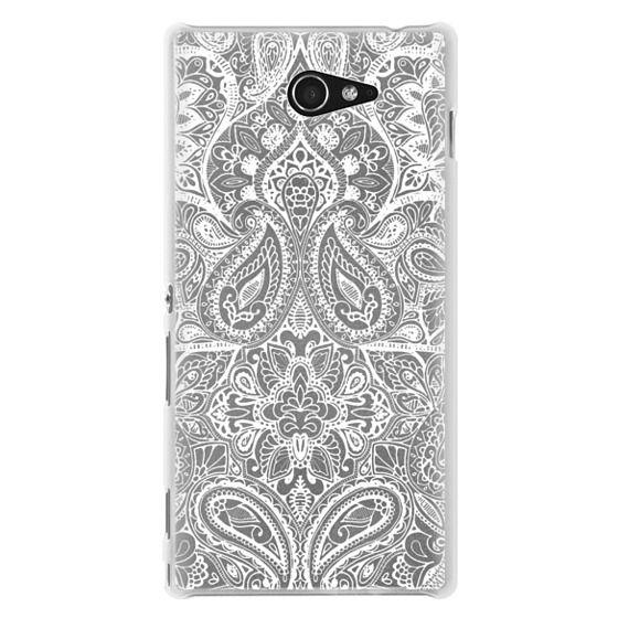 Sony M2 Cases - Paisley White