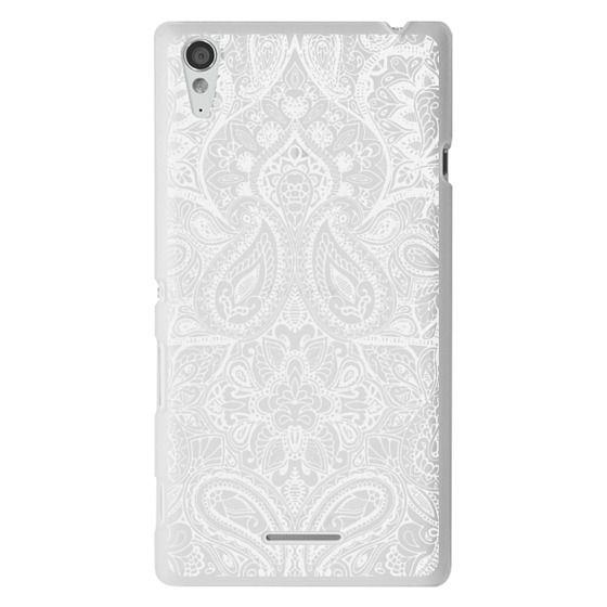 Sony T3 Cases - Paisley White