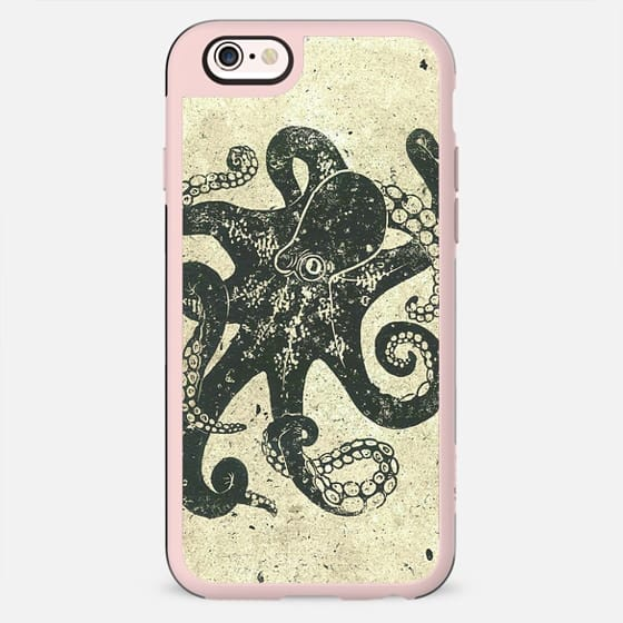 Black Brown Vintage Nautical Steampunk Octopus -