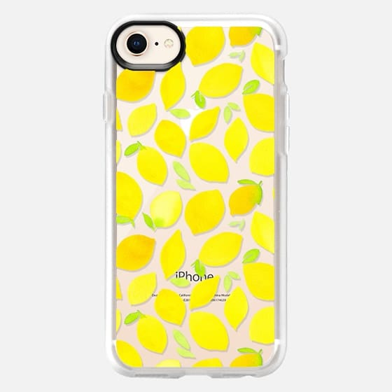 Watercolor Lemons Transparent - Snap Case