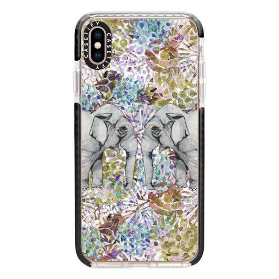iPhone XS Max Cases - Elephant Mirror in Autumn