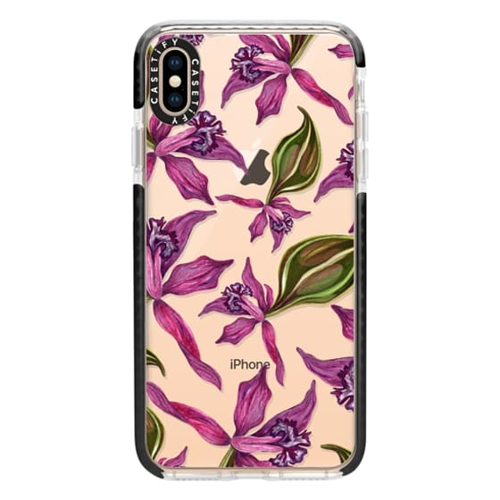 iPhone XS Max Cases - Orchids & Ink in Magenta