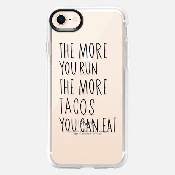 Run more eat more tacos - black - Snap Case