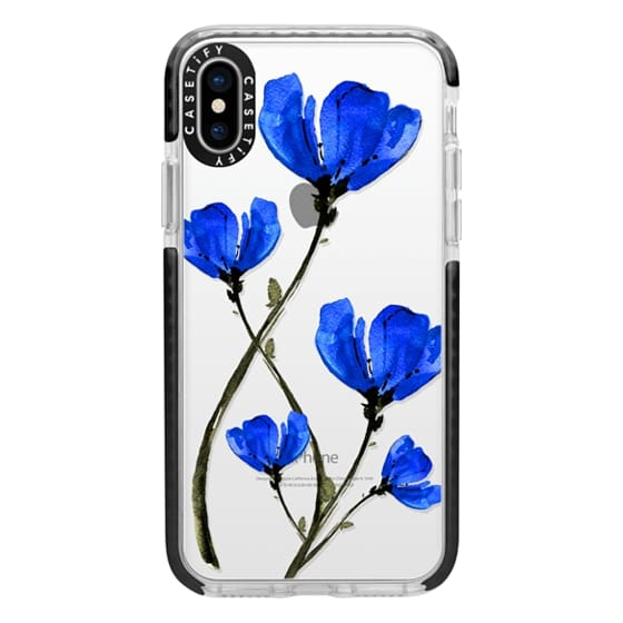 iPhone X Cases - Blue Poppy. Anemones. Summer flowers