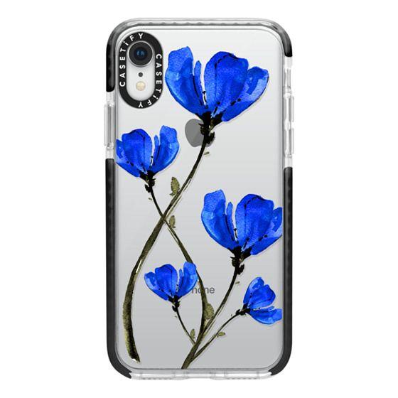 iPhone XR Cases - Blue Poppy. Anemones. Summer flowers