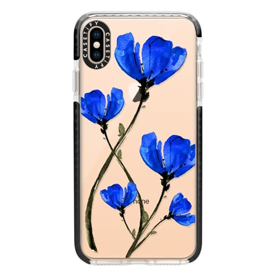 iPhone XS Max Cases - Blue Poppy. Anemones. Summer flowers