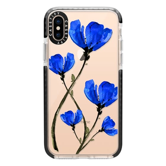 iPhone XS Cases - Blue Poppy. Anemones. Summer flowers