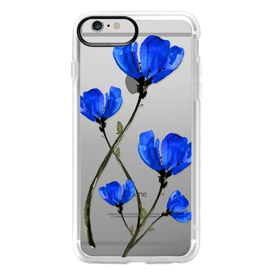 iPhone 6 Plus Cases - Blue Poppy. Anemones. Summer flowers