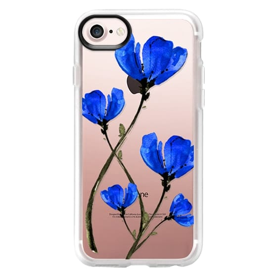 iPhone 7 Cases - Blue Poppy. Anemones. Summer flowers