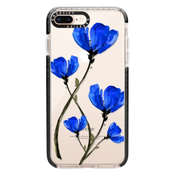 iPhone 8 Plus Cases - Blue Poppy. Anemones. Summer flowers