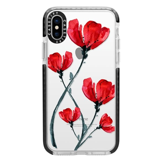 iPhone X Cases - Red Poppy. Summer flowers I