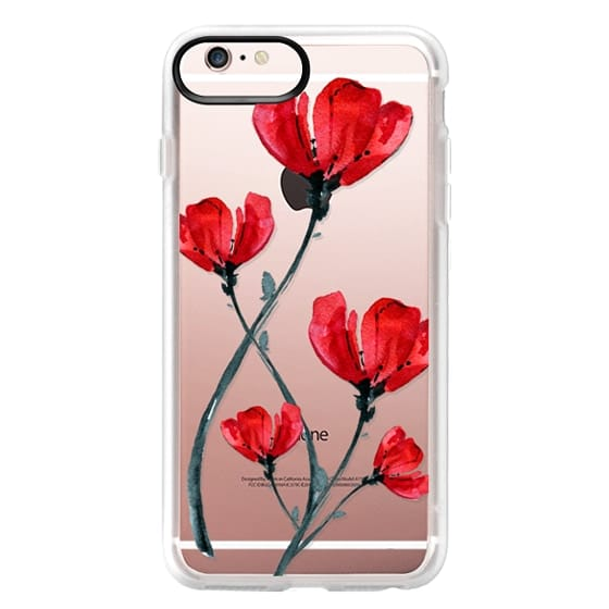 iPhone 6s Plus Cases - Red Poppy. Summer flowers I